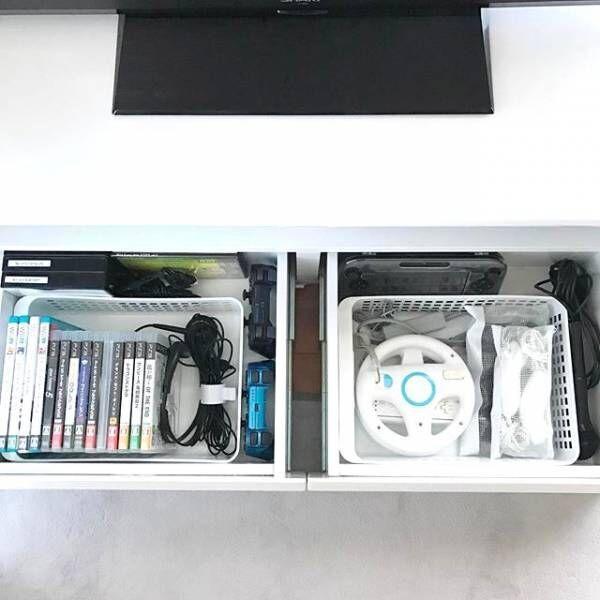 テレビゲームの収納法☆ゲームソフトやコード・コントローラーなどの付属品の収納方法についてもご紹介