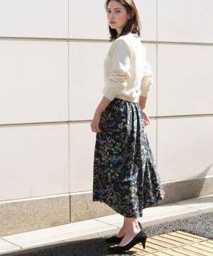 気になる下半身カバーに!ふんわりロングスカートが役に立つ♡