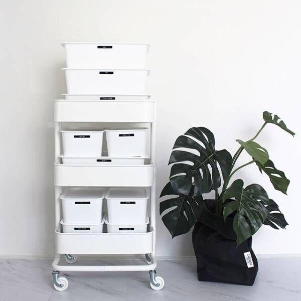 【IKEA&山善】かわいくて収納力バツグン☆キッチンワゴンの活用アイディア集!