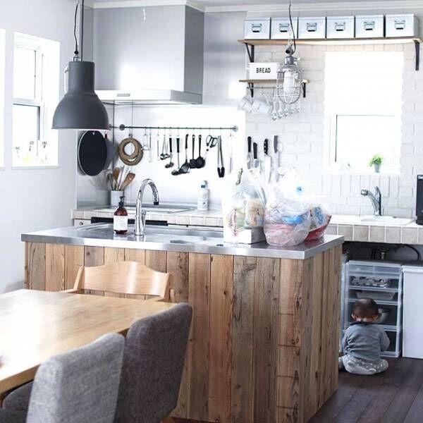 対面キッチンの種類とインテリア実例を一挙ご紹介!今どきスタイルのキッチンも登場♡