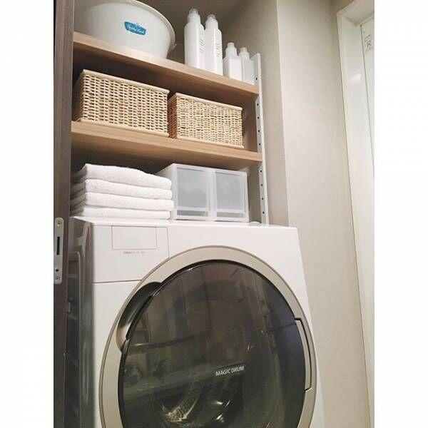 洗濯機周りの収納アイディア50選♪機能的で快適なランドリー収納を目指そう!