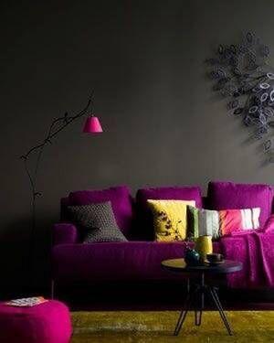 インテリアに遊び心あふれる色をプラス!トレンドカラーを使った部屋づくり