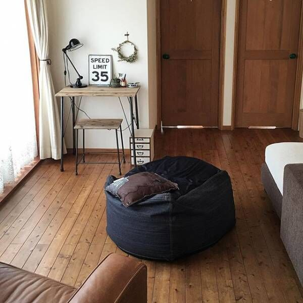 自宅をリラックスできる空間に!クッションソファのあるおしゃれインテリア