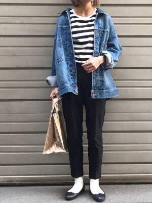 【無印良品】のボーダーTシャツ特集!長袖・半袖どっちも欲しくなる素敵コーデ15選