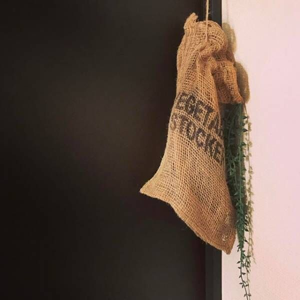 アイディア次第で使い方色々♩「麻袋」を使ったナチュラルでおしゃれなインテリア