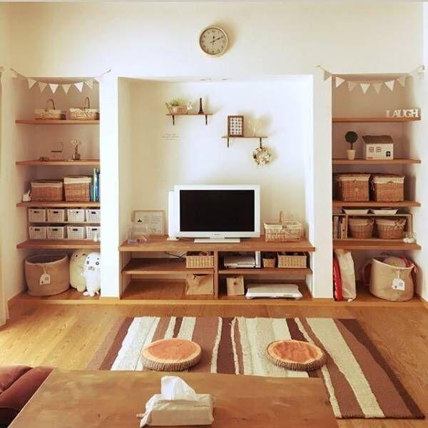 かごを取り入れたお部屋作り☆暖かみと収納力をプラスした優しいインテリア