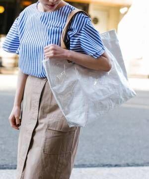 トレンド素材は〝PVC〟!アイテムで決めるオトナ女子の「初夏の涼感スタイル」特集♡