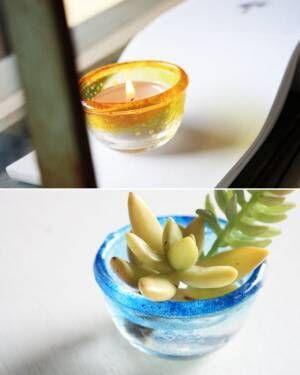 涼しげでおしゃれ♪100均のガラス商品を使ったリメイクアイディア