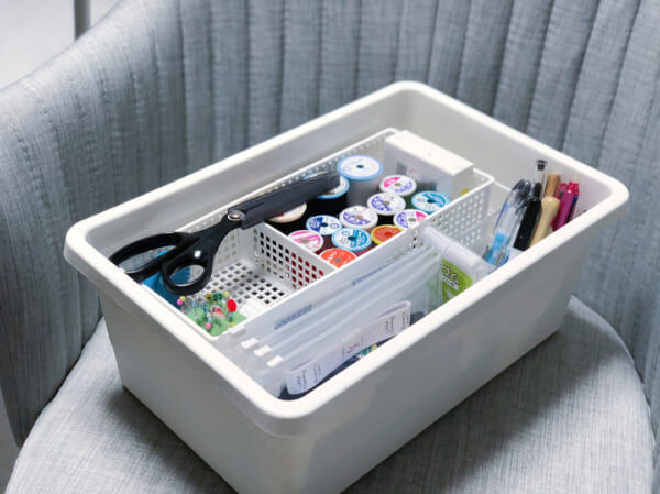 100均・無印・IKEAの商品を活用♪便利なソーイングボックス8選