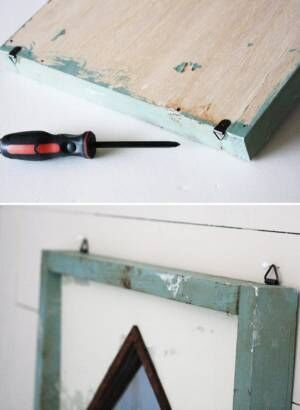 【連載】「切る・塗る・貼る」だけでOK!シャビーシックな「ダイヤ型フレームミラー」を作ろう!
