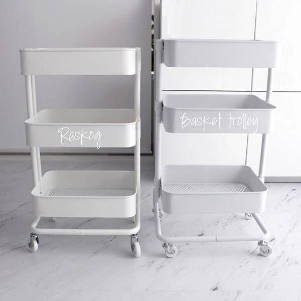 シンプルデザインで 収納力抜群!【IKEA】のキッチンワゴン「ロースコグ(RÅSKOG)」を使ってみよう♪