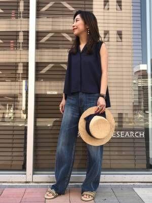 初夏のお出かけにピッタリ♡【カンカン帽】でキュートさアップ!