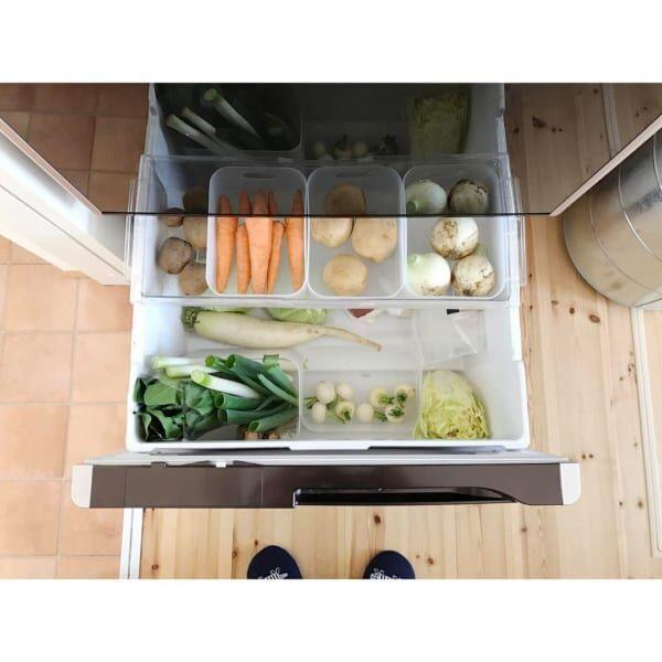 暮らし上手さんに学ぶ。使いやすくてスッキリとした冷蔵庫の野菜収納法!