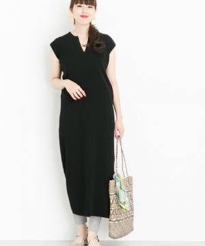 大人なブラックワンピを夏らしく着こなそう!ノースリーブデザインで叶えるイマドキコーデ特集♡