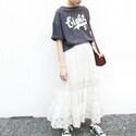 夏はホワイトスカートで軽やかに♪大人女子のきれいめカジュアルスタイル♪