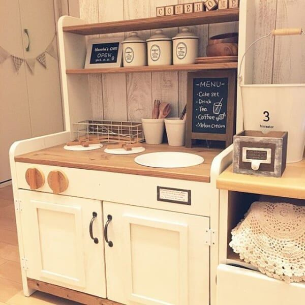 みんな大好きおままごと♪子供も大人も楽しめるキッチンを作って一緒に遊ぼう☆