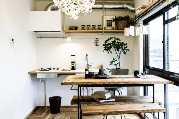 ワンルームのキッチンインテリア7