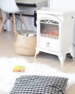 ニトリの暖炉型ファンヒーター【ホワイト】
