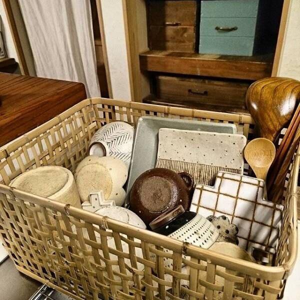 キッチン周辺のかご収納3