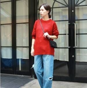 色が主役の冬コーデ!重くなりがちな冬の装いに「赤」をポイント使いする♡