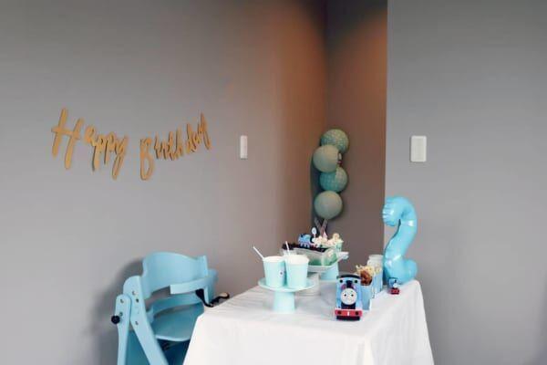 誕生日の飾り付け方 ブルー