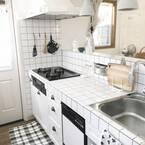 素敵なキッチン・サニタリーに!タイルを使った実例&DIYアイテムまとめ