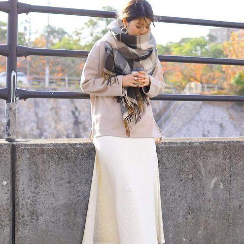 冬も可愛いを目指したいから♡カラー別フレアスカートコーデ20選