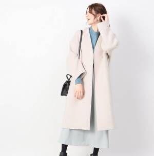 長く使える♪「淡色ノーカラーコート」を使ったカラー別コーデ特集