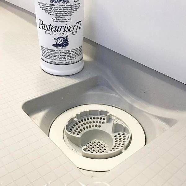 風邪対策 お風呂場の排水口を除菌