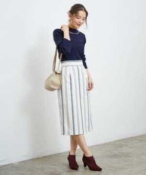 ストライプタイトスカート2
