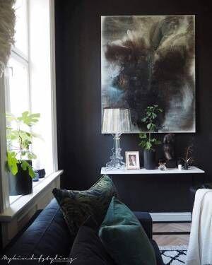 濃いブラックやグレーの壁インテリアのコツ9