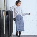 今買って春まで使える♡レース柄スカートを使った大人スタイル集