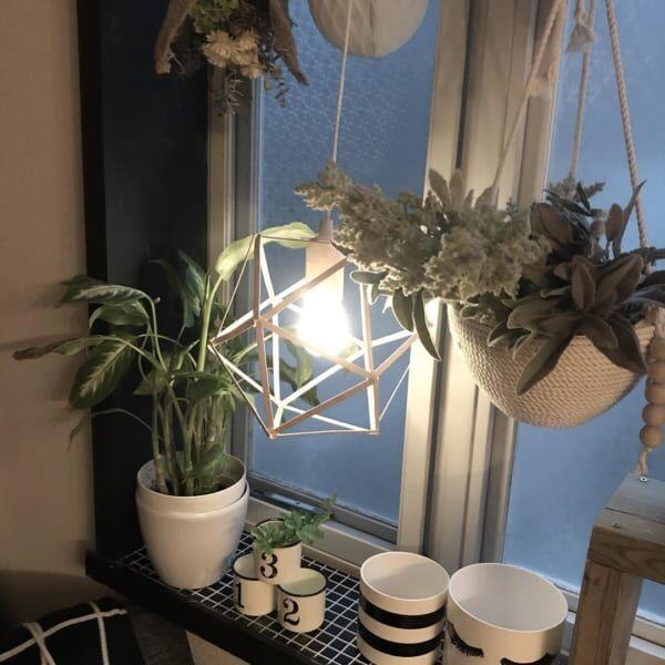 プチリメイク 幾何学模様のカフェ風ライト