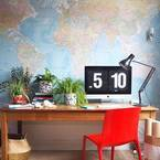 おうちに居ながら空想トリップ!世界地図をインテリアに取り入れよう♡