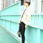 初春まで着られるアウター♡ホワイトボアジャケットのおしゃれな着こなし♪