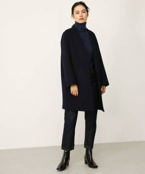 no collar wool coat