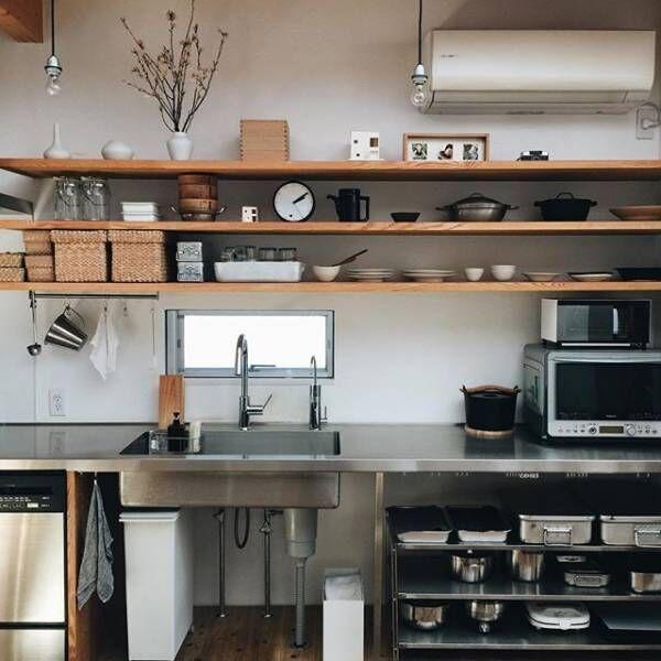 オープン収納 キッチン