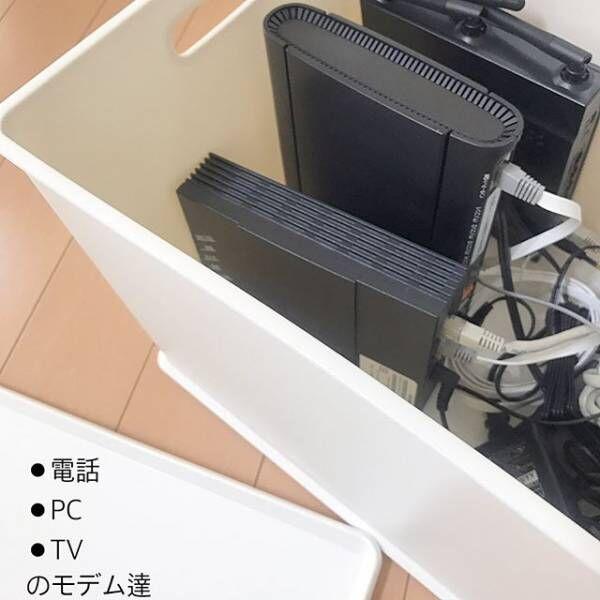 ケーブル収納ニトリインボックス