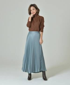 [My shawty] satin pleats skirt