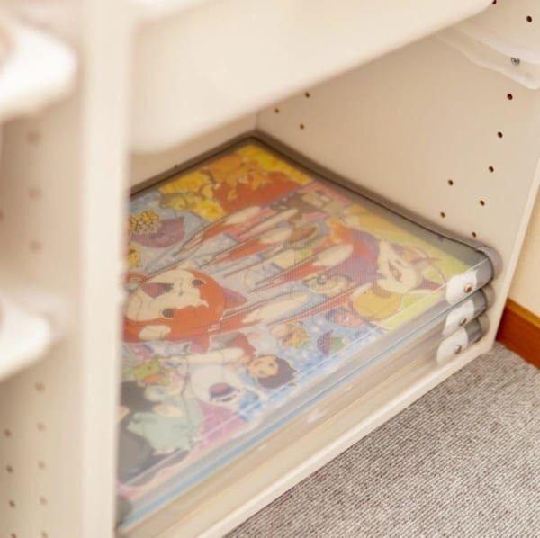 ダイソー・無印良品で知育玩具&お絵かきグッズ収納