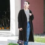 着膨れしないアウターコーデ15選◆アウターを着てもすっきりまとまる着こなしを