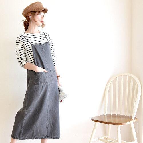 この春も要注目☆大人かわいい《ジャンパースカート&サロペットスカート》15選!