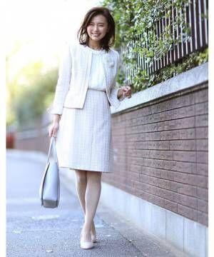 [EFDEISEE] 【入学式・卒業式・七五三】ツィードフレアスカート