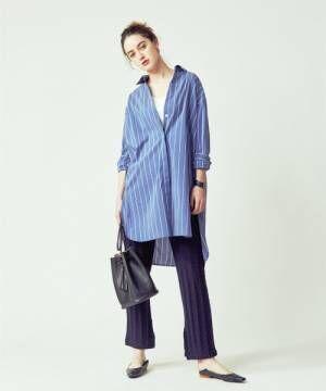 [FREAK'S STORE] ▽【WEB限定】+81BRANCA/ハチイチブランカStripe Shirt/ストライプシャツ