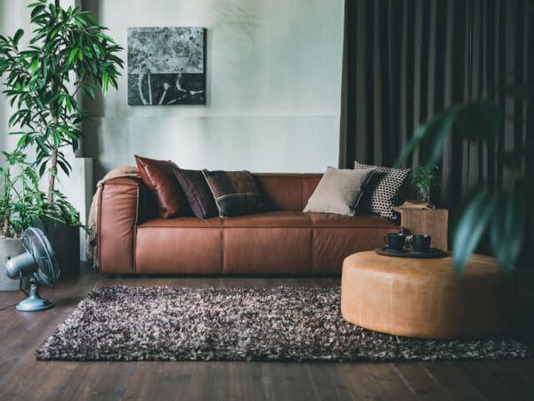 重厚感のあるソファ