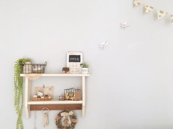 鳥モチーフ壁面インテリアカントリーテイスト