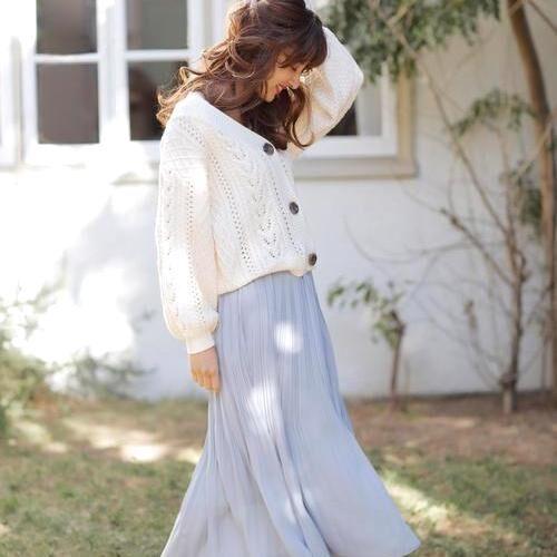 春らしさ満点《プリーツスカート》!ふんわりシルエットでガーリーコーデを♡