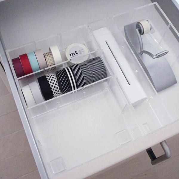 収納ボックスを用いたマスキングテープ収納