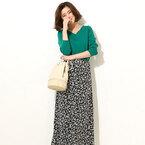 今春のトレンド「花柄ロングスカート」を着こなす!大人のフェミニンコーデ集