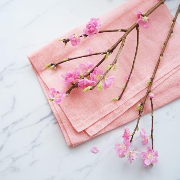 ひな祭り花飾り桃の花